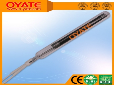 单端半镀白全编织碳纤维加热管(中波)
